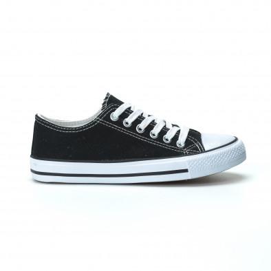 Γυναικεία μαύρα sneakers κλασικό μοντέλο it250119-70 2