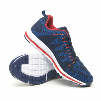 Ανδρικά υφασμάτινα αθλητικά παπούτσια σε μπλε και κόκκινο it251019-6 5
