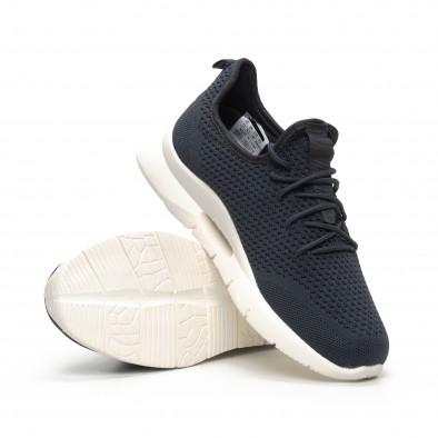 Ανδρικά σκούρα γκρι αθλητικά παπούτσια Hole design it240419-14 4