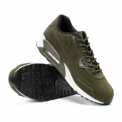 Ανδρικά πράσινα σουέτ αθλητικά παπούτσια Air it140918-29 4