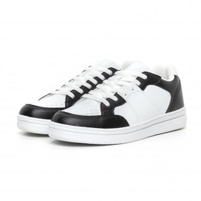 Ανδρικά skate sneakers σε λευκό και μαύρο it130819-7 3