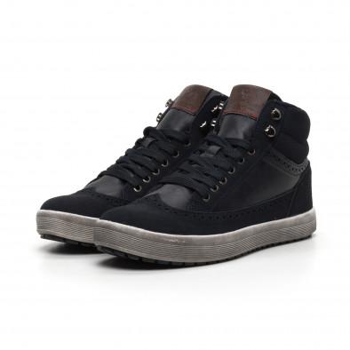 Ανδρικά μπλε ψηλά sneakers  it260919-43 3