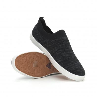Ανδρικά μαύρα μελάνζ sneakers κάλτσα it150319-15 4