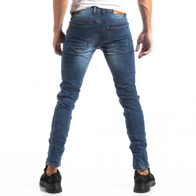Ανδρικό τζιν Slim Jeans με διακοσμητικά μπαλώματα it250918-15 4