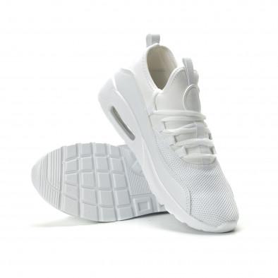 Ανδρικά λευκά αθλητικά παπούτσια Air ελαφρύ μοντέλο it250119-28 4