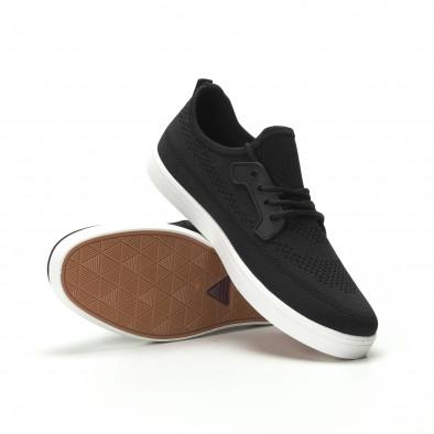 Ανδρικά μαύρα sneakers ελαφρύ μοντέλο it250119-14 4