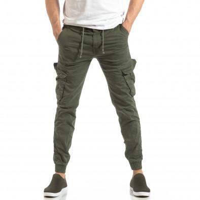 Ανδρικό military πράσινο παντελόνι Cargo Jogger it210319-17 3