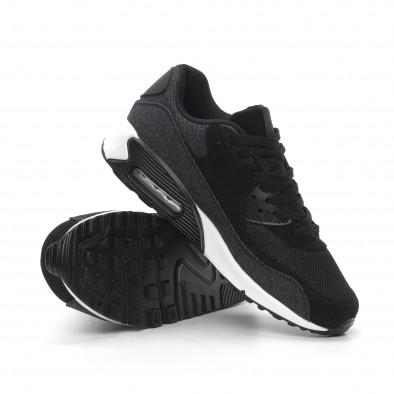Ανδρικά μαύρα denim αθλητικά παπούτσια Air it150319-20 4