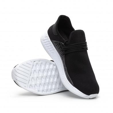 Ανδρικά μαύρα αθλητικά παπούτσια ελαφρύ μοντέλο it240419-6 4