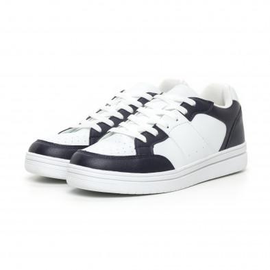Ανδρικά skate sneakers σε λευκό και μπλέ it130819-8 3