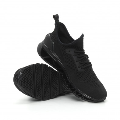 Ανδρικά μαύρα αθλητικά παπούτσια Knife ελαφρύ μοντέλο it150319-24 4
