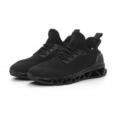 Ανδρικά μαύρα αθλητικά παπούτσια Knife ελαφρύ μοντέλο it150319-24 3