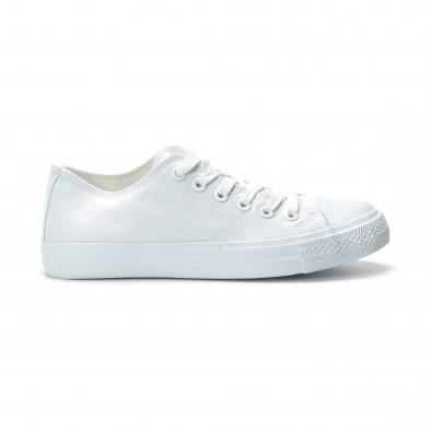 Ανδρικά λευκά sneakers κλασικό μοντέλο it250119-11 2