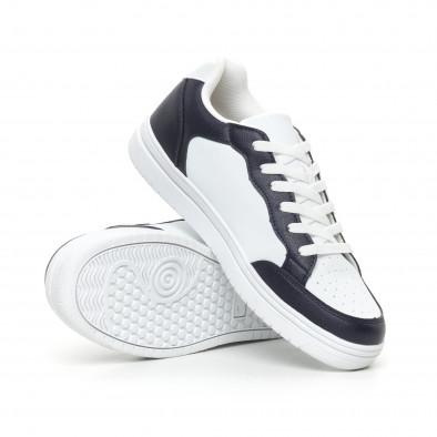 Ανδρικά skate sneakers σε λευκό και μπλέ it130819-8 4
