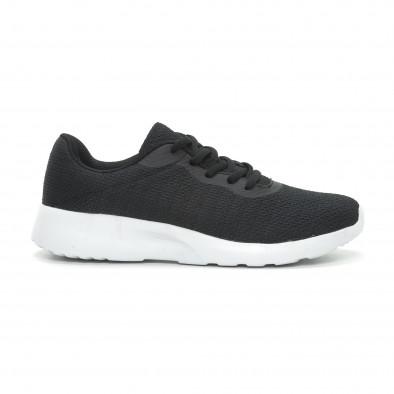 Ανδρικά μαύρα υφασμάτινα αθλητικά παπούτσια  it150319-3 2