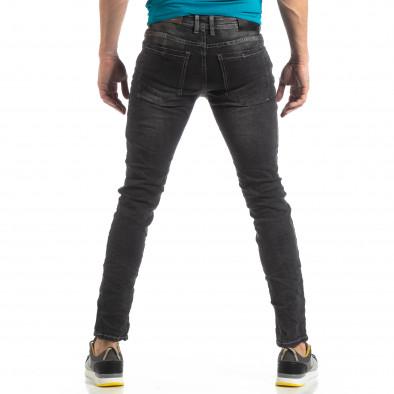 Ανδρικό σκούρο γκρι τζιν Washed Slim Jeans it210319-7 4