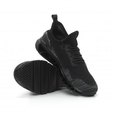 Ανδρικά μαύρα αθλητικά παπούτσια Knife ελαφρύ μοντέλο it150319-26 4