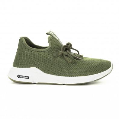 Πλεκτά ανδρικά πράσινα αθλητικά παπούτσια  it221018-37 2