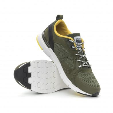 Ανδρικά πράσινα αθλητικά παπούτσια με κορδόνια it150319-31 5