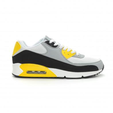 Ανδρικά πολύχρωμα αθλητικά παπούτσια με αερόσολα it150319-21 3