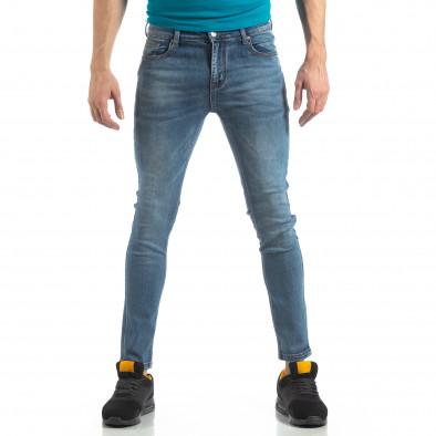 Ανδρικό μπλε ελαστικό τζιν Slim fit it210319-4 2