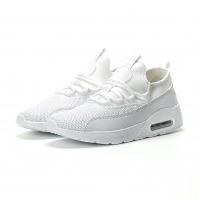 Ανδρικά λευκά αθλητικά παπούτσια Air ελαφρύ μοντέλο it250119-28 3