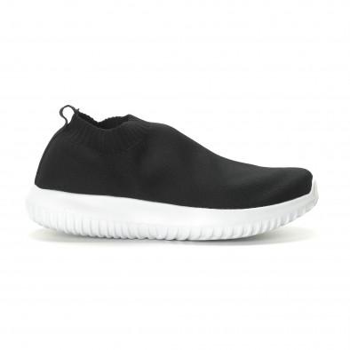 Ανδρικά χαμηλά μαύρα αθλητικά παπούτσια κάλτσα it190219-12 3