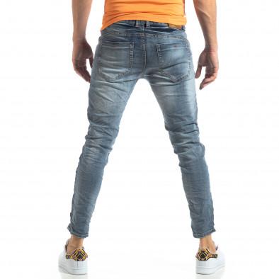 Ανδρικό γαλάζιο τζιν Washed Slim Jeans it210319-9 4