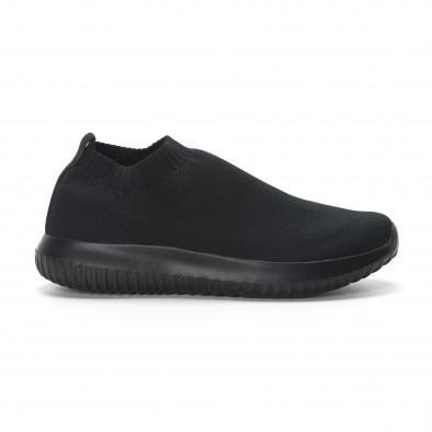 Ανδρικά χαμηλά μαύρα αθλητικά παπούτσια κάλτσα All black it190219-11 2