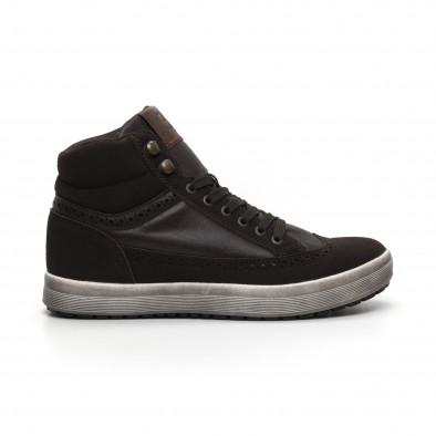 Ανδρικά καφέ ψηλά sneakers  it260919-44 2