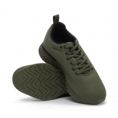 Ανδρικά πράσινα πλεκτά αθλητικά παπούτσια  it240419-12 4