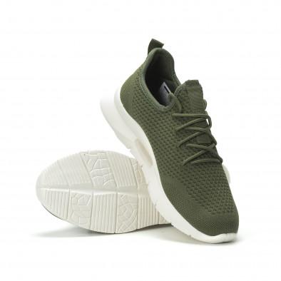 Ανδρικά πράσινα αθλητικά παπούτσια Hole design ελαφρύ μοντέλο it250119-22 4