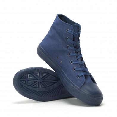 Ανδρικά μπλε ψηλά sneakers κλασικό μοντέλο it250119-2 4