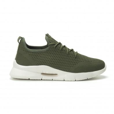 Ανδρικά πράσινα αθλητικά παπούτσια Hole design ελαφρύ μοντέλο it250119-22 2