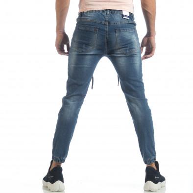 Ανδρικό γαλάζιο τζιν Jogger Jeans it040219-3 4