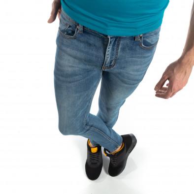 Ανδρικό μπλε ελαστικό τζιν Slim fit it210319-4 3