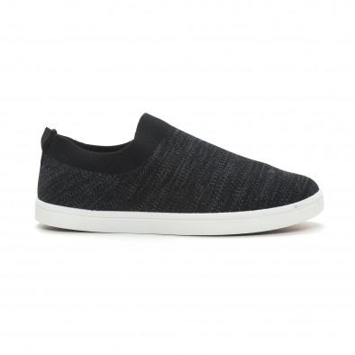 Ανδρικά μαύρα μελάνζ sneakers κάλτσα it150319-15 2