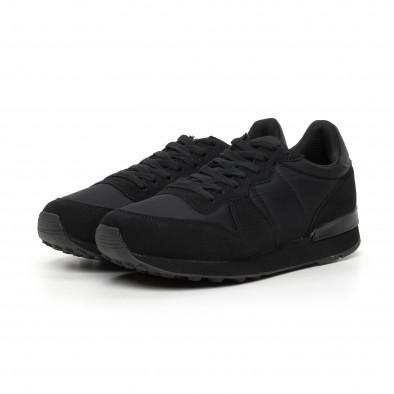 Ανδρικά μαύρα αθλητικά παπούτσια ελαφρύ μοντέλο  it130819-13 3