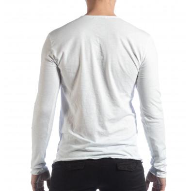 Ανδρική λευκή μπλούζα V-neck it040219-89 3