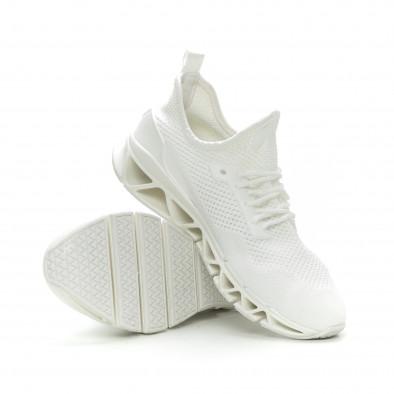 Ανδρικά λευκά αθλητικά παπούτσια Knife ελαφρύ μοντέλο it150319-27 4
