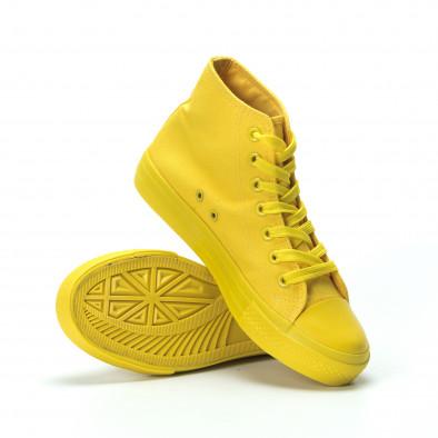 Γυναικεία κίτρινα ψηλά sneakers it250119-79 4