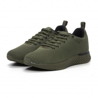 Ανδρικά πράσινα πλεκτά αθλητικά παπούτσια  it240419-12 3