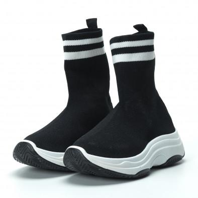 Γυναικεία μαύρα ψηλά sneakers καλτσάκι it250119-61 4