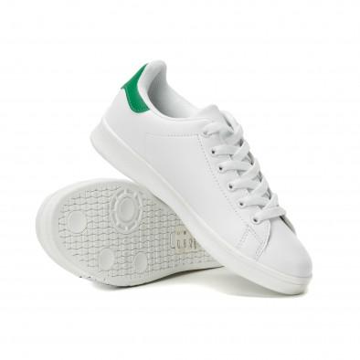 Γυναικεία λευκά sneakers με χρωματιστές πιτσιλιές it150818-38 4