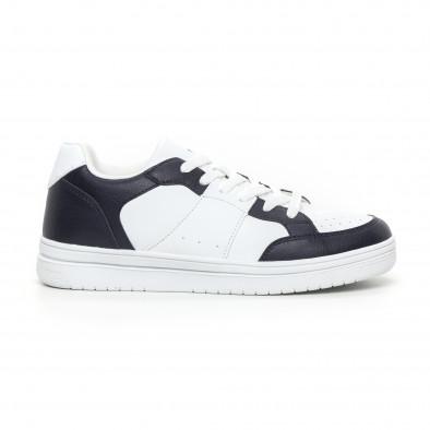 Ανδρικά skate sneakers σε λευκό και μπλέ it130819-8 2