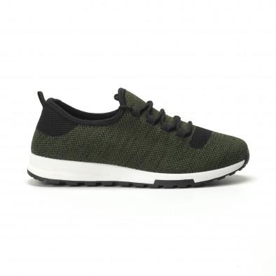 Ανδρικά πράσινα μελάνζ αθλητικά παπούτσια ελαφρύ μοντέλο it250119-13 2