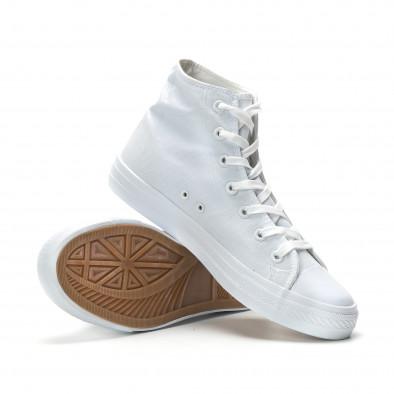 Ανδρικά λευκά ψηλά sneakers κλασικό μοντέλο it250119-3 4