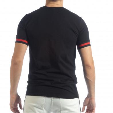 Ανδρική μαύρη κοντομάνικη μπλούζα Heraldic it040219-115 3