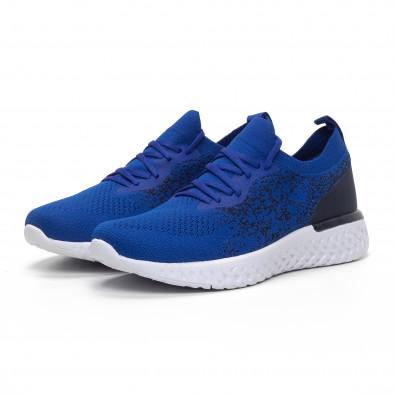 Ανδρικά μπλε αθλητικά παπούτσια καλτσάκι it240419-11 3