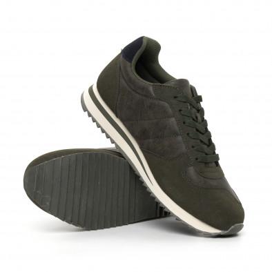 Ανδρικά πράσινα αθλητικά παπούτσια  it130819-4 4